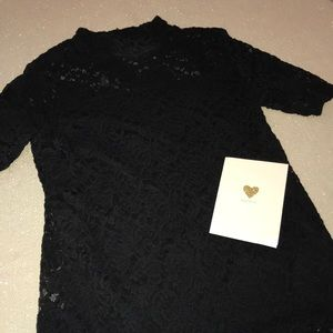 Ruff Hewn black lace top